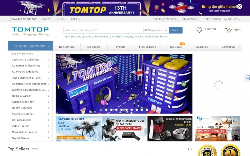 Tomtop discount coupon